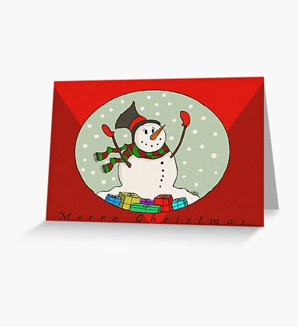 Snow Man -Trav Nash Greeting Card