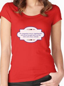 My companion went to Appalapachia  Women's Fitted Scoop T-Shirt