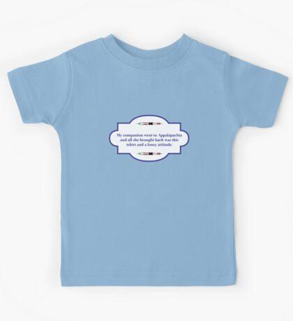 My companion went to Appalapachia  Kids Tee
