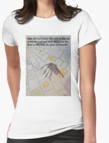 Man Did Not Weave the Web of Life Womens Fitted T-Shirt