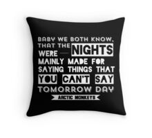 Arctic Monkeys Quote - Do I Wanna Know?  Throw Pillow