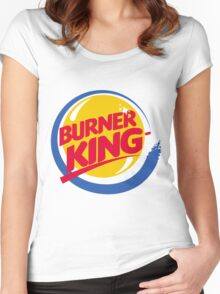 Burner King Women's Fitted Scoop T-Shirt