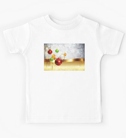 Grey Background with Colorful Balls 2 Kids Tee
