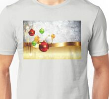 Grey Background with Colorful Balls 2 Unisex T-Shirt