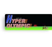 Hyper Olympics Arcade Canvas Print