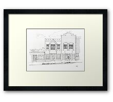 Downtown Abbotsford Framed Print
