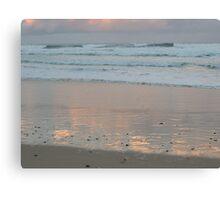 Beach sunset 2 Canvas Print