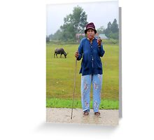 Pa Co Ethnic Lady, A Luoi, Vn... Greeting Card