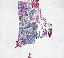 rhode island map cold colors by MapMapMaps