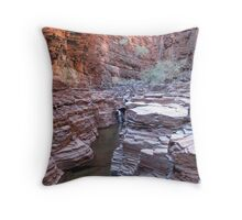 Knox Gorge   Pilbara - photo by Sue Throw Pillow