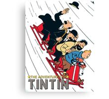 tintin adventures Canvas Print