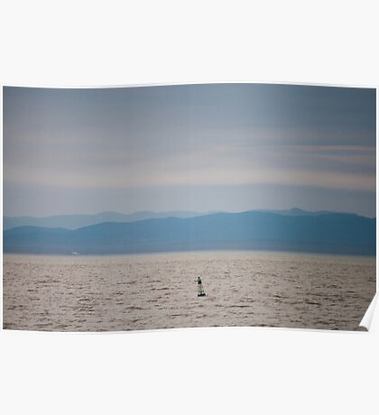 Mountains and Buoy Poster