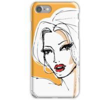 French Kiss : Tangerine iPhone Case/Skin