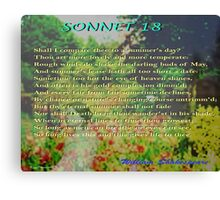 Shakespeare Sonnet 18--Shall I compare thee... Canvas Print