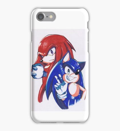 Sonic and Knuckles  iPhone Case/Skin