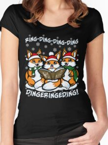 What does the Fox Sing Women's Fitted Scoop T-Shirt