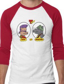 Bebop and Rocksteady Men's Baseball ¾ T-Shirt