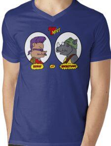 Bebop and Rocksteady Mens V-Neck T-Shirt