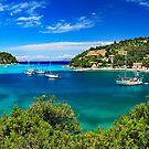 Panorama of Lakka bay & village, Paxos island by Hercules Milas
