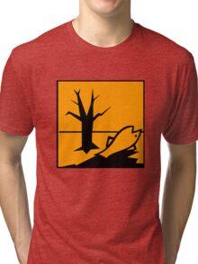 Dangerous for the Environment Hazard Symbol Tri-blend T-Shirt