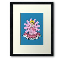 Life Is Peachy Framed Print