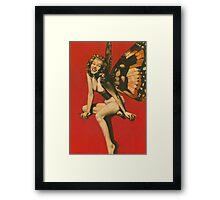 Vintage Fairy Pin-up Framed Print