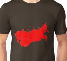 Soviet Union Map Unisex T-Shirt