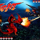 Ash Vs.Gary-Good Vs.Evil Charizard by MGraphics