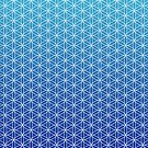 Flower of Life - Blue by Steven Nicolaides