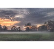Misty Sunset Photographic Print
