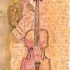 Man and violin by Ina Mar