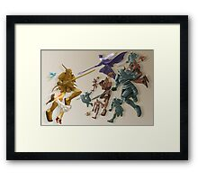 The Girl and the Robot - The Clash Framed Print