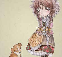 Sprawling Puppy Meets A Mori Girl by SprawlingPuppy