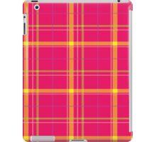 Tartan backgroundink, Gold, Green iPad Case/Skin