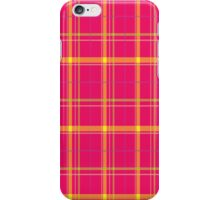 Tartan background Pink, Gold, Green iPhone Case/Skin