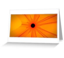 black sun - yellow Greeting Card
