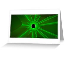 black sun - green Greeting Card