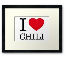 I ♥ CHILI Framed Print