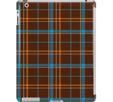 Tartan Background Brown, Blue, Orange iPad Case/Skin