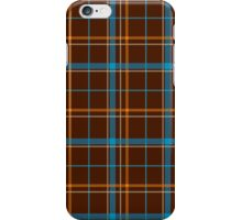 Tartan Background Brown, Blue, Orange iPhone Case/Skin