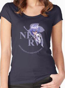 Rei - Nerv - Neon Genesis Evangelion Women's Fitted Scoop T-Shirt