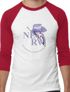 Rei - Nerv - Neon Genesis Evangelion Men's Baseball ¾ T-Shirt