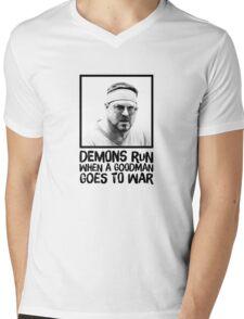 Demons run when a Goodman goes to war Mens V-Neck T-Shirt