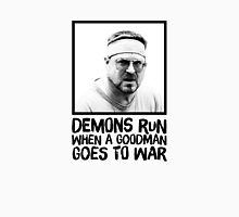 Demons run when a Goodman goes to war Mens V-Neck T-Shirt