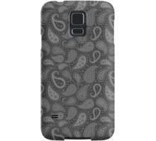 Paisley Dark Grey Samsung Galaxy Case/Skin