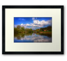 Coloured River Framed Print