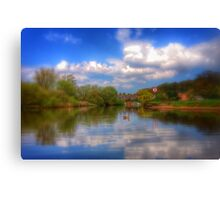 Coloured River Canvas Print