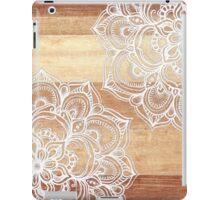 White Doodles on Blonde Wood iPad Case/Skin