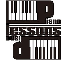 PIANO_LESSONS Photographic Print