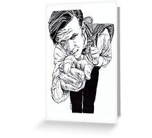 The Doctor - Matt Smith Greeting Card